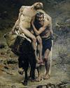 De barmhartige samaritaan op vakantie