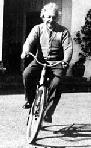 Einstein op de fiets