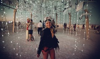 Flickr Annelogue The Wet Dream Umbrella LED Rain Art