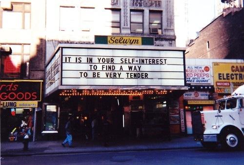 cc Flickr Franseco Sagnolo photostreamJenny Holzer a way to be very tender
